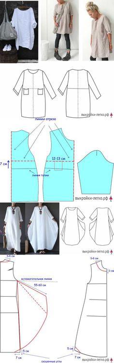 Sewing free pattern dress tutorials 20 new Ideas Sewing Patterns Free, Free Sewing, Clothing Patterns, Dress Patterns, Free Pattern, Pattern Dress, Pattern Sewing, Style Patterns, Basic Sewing
