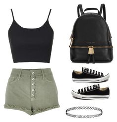 """Untitled #4"" by dalma-pothorszki ❤ liked on Polyvore featuring Topshop, River Island, Michael Kors and Converse"