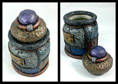 Steampunk industriels Jar sculpté argile par LeftHandAsylum sur Etsy