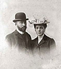 Вера Саввишна и Александр Дмитриевич Самарины, 1903 год. Италия, Рим, свадебное путешествие.