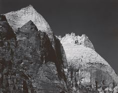 1942 Zion National Park, White Summits by Ansel Adams 84.92.36