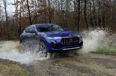 2017 Maserati Levante. There are two Off-road and two Sport mode settings with separate ride heights in addition to the normal setting.
