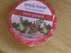 Berry Garland Simply Home, Berry Garland, Small Candles, Wax Tarts, Candle Wax, Pie Dish, Potpourri, Berries, Berry Fruits