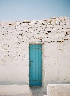 Teal Door, Mykonos, Greece by Marta Locklear Cool Doors, The Doors, Unique Doors, Windows And Doors, Teal Door, Turquoise Door, Mykonos Island, Mykonos Greece, When One Door Closes