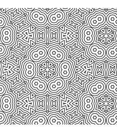 Difficult Geometric Design Coloring Pages | Free Coloring/Painting Pages: 2 Geometric Designs