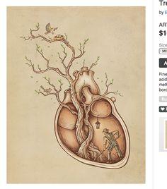anatomical heart art