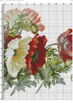 This Pin was discovered by Ali 123 Cross Stitch, Cross Stitch Needles, Cross Stitch Flowers, Counted Cross Stitch Patterns, Cross Stitch Charts, Hand Embroidery Stitches, Cross Stitch Embroidery, Rosa Shabby Chic, Cross Stitching