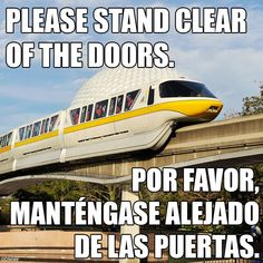 Please Stand Clear of the Doors! Don't you love hearing that?