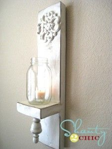 love this!! diy wall sconce for under $10!!