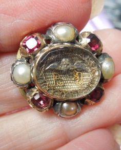 Stuart Crystal Slide, Pearls and Garnets, Angel, Enameled Back, 1690 Enamel Jewelry, Hair Jewelry, Crystal Jewelry, Pendant Jewelry, Antique Jewelry, Vintage Jewelry, Stuart Crystal, Mourning Jewelry, Luxury Jewelry