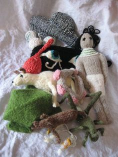 Knitted passover ten plagues. How cool!