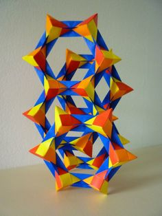 Modular Origami Model This Assembly Is A Design By Tomoko Fuse It Consists Of