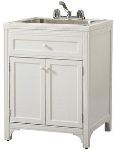 martha stewart living laundry storage utility sink cabinet satisfy all of your laundry storage needs