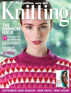 Knitting Issue 106 2012, cute striped cardigansweat