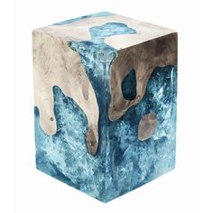 Custom Cracked Resin - Wood How to Crafts Concrete Crafts, Concrete Projects, Resin Crafts, Cement Art, Concrete Art, Epoxy Resin Art, Wood Resin, Resin Furniture, Resin Table