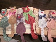 Adorable cat bookmarks! Must make these! Must drop all other projects and make these!