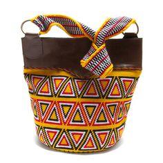 Yellow Wayuu Mochila Bag: Handmade in Colombia