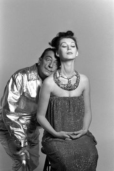 Dali by Richard Avedon, 1964 Same photosession with Enrique Meneses