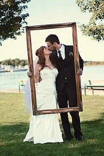 wedding outdoors lake rustic country simple