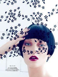 #houseofbeauty | Emre Guven Lenses Romantic Fall Beauty for Elle Mexico October 2012