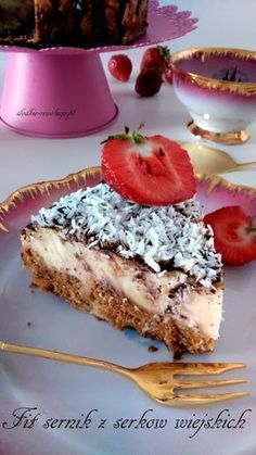 Sweet Revolutions: Fit cheesecake with cottage cheese - Fit Healthy Desserts, Dessert Recipes, Healthy Foods, Tasty, Yummy Food, Love Food, Sweet Recipes, Bakery, Cheesecake