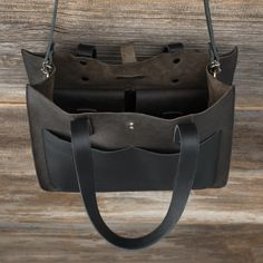Leather Pocket Tote - Leather Tote Bags  Love 41
