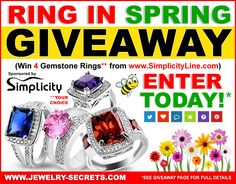 ► ►  Ring in Spring Giveaway, WIN 4 Gemstone Rings  ► ►  ☀️ ► ► http://bit.ly/1Qut0ed
