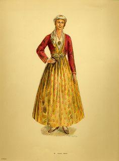 Φορεσιά Πηλίου. Costume from Pelion. Collection Peloponnesian Folklore Foundation, Nafplion. All rights reserved.