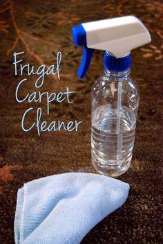 Frugal Carpet Cleaner | DIY Cleaners #frugal #frugaltips #cleaners #diy