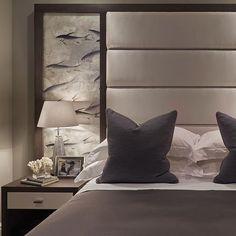 This fishes @degournay wallpaper looks good anywhere. #bedroom #interiors #interiordesign #luxuryhome #luxuryinteriors #homedecor #houzz #so...