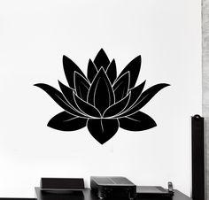 Wall Stickers Vinyl Decal Lotus Flower Buddhism Symbol of Purity Talisman (ig2310)