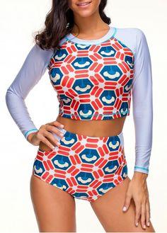 Eolgo Womens 2 Pieces Swimsuit Floral Printing Fashion Bikini Beach Sports Boy Shorts Beachwear