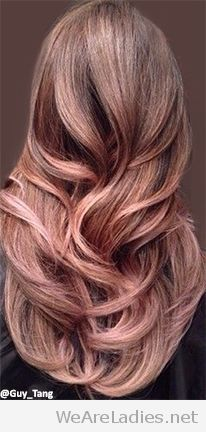 Rose gold hair color idea