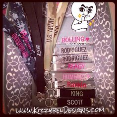 • Visit our Website: www.KizzybelDesigns.com • Like us on Facebook: www.Facebook.com/KizzybelDesigns • Follow us on IG  Twitter: http://instagram.com/kizzybeldesigns http://www.Twitter.com/kizzybeldesigns #military #militaryjewerly #support #homecoming #jewelry #kizzybeldesigns #customjewelry #army #navy #usmc #charms #airforce #militarycharms #nametape #armywife #nametapebracelet #bracelet #keychain #usa #usa #custom #siliconebracelet #deployment #craft #crafts #DIY #milso #nametapekeychain