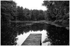 Empty Dock by Dave Butterworth - EyeWasHere™ Photography - www.eyewashere.net - Black and White Photography - Art - Upstate NY - New York
