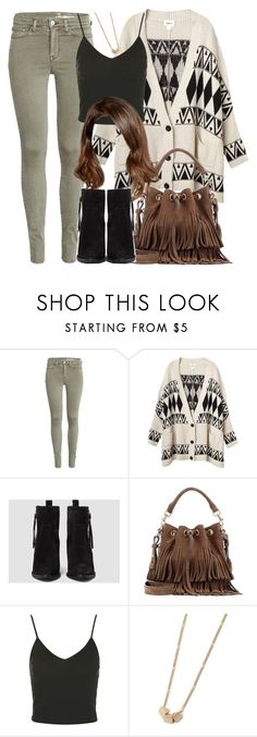 """""""Malia Inspired Outfit with Black Suede Ankle Boots"""" by veterization ❤ liked on Polyvore featuring Monki, AllSaints, Yves Saint Laurent, Topshop and Forever 21"""
