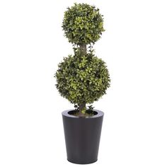 House of Silk Flowers Inc. Artificial Double Ball Topiary in Pot