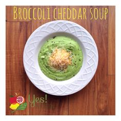 """When I first told my mom last fall """"you have to try this soup - I made it  with broccoli and Greek yogurt"""" she looked at me like I was crazy! But,  here it stands one year later as one of our favorite """"healthier"""" soups to  make - in under 10 minutes! Try it out for yourself a"""