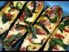 Jersey Fresh|Jersey Fresh Zucchini Boats -- tomatoes, fresh mozz, and parm ...yum!