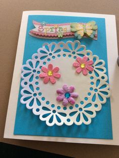 3D Flower Greeting Card handmade greeting card handmade by EMTWTT
