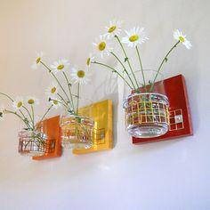 TROIS: modern wall mount flower vases. $87.00, via Etsy.