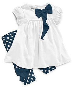 First Impressions Baby Set, Baby Girls Cascading Bow Top and Leggings - Kids Baby Girl (0-24 months) - Macy's