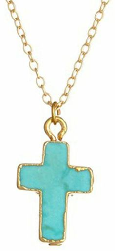 Turquoise Small  Cross on shopstyle.com