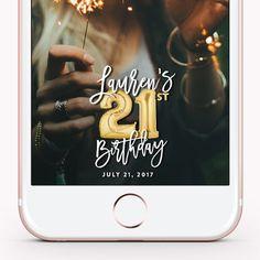 Snapchat Geofilter Birthday Snapchat Birthday by LoveStoryPaper