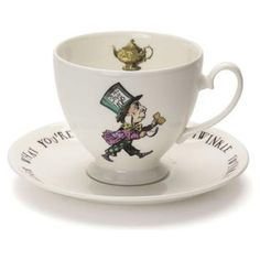 Mad Hatter Teaparty Teacup and Saucer