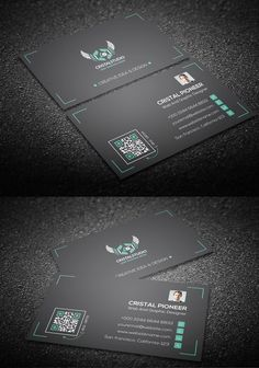 Personal Corporate Business Card #businesscards #psdtemplates #visitingcard #corporatedesign