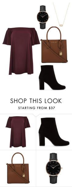 """""""thanksgiving outfit"""" by fashionblogger2122 on Polyvore featuring River Island, Yves Saint Laurent, MICHAEL Michael Kors, Topshop, Kendra Scott and plus size dresses"""