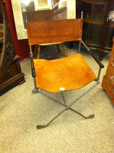 leather directors chair made from old golf clubs-would have been great for art's home office