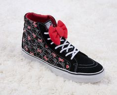 """Selling this """"Limited edition Hello Kitty hi Top Vans"""" in my Poshmark closet! My username is: _roro. Hi Top Vans, Hello Kitty Vans, Vans Skate, High Top Sneakers, Fashion Design, Vans Shoes, Username, Style, Closet"""