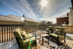 You can definitely get some sun while kicking back on this deck. Makes me want to grab a book and catch up on my reading.